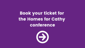 buy your ticket for the homes for cathy conference